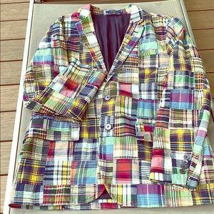POLO RALPH LAUREN Plaid Patch Blazer/Sport Coat